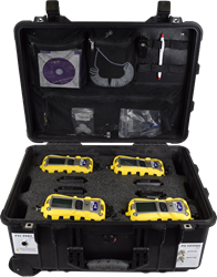 4-Meter Kit for MultiRAE Lite O2/LEL/CO+H2S/PID MultiRAE Lite, Pumped, Multi-Unit Kit, O2/LEL/CO+H2S/PID, calibration gas, gas detection